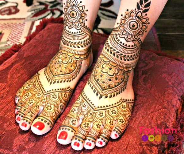 Bridal Mehndi On Foot : Indian bridal mehndi designs for feet on wedding weddingplz