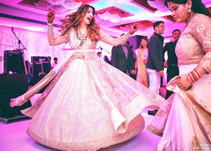 Mehndi Ceremony Dress For Bride : Bipasha basu and karan singh grovers wedding weddingplz