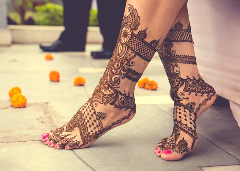 Mehndi Legs Images : Indian bridal mehndi designs for feet on wedding weddingplz
