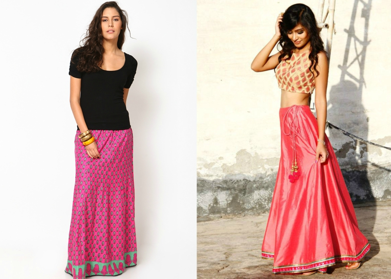 brilliant indian long skirt outfit ideas
