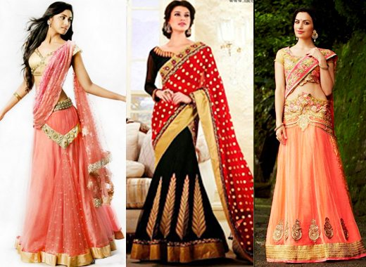 Lehenga Saree.weddingplz