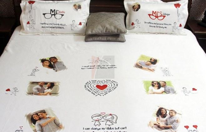 Customized Bedsheet.weddingplz