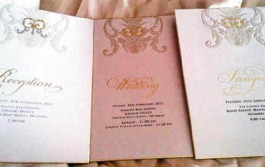 Essential Tips to Take From Wedding Invites of Bollywood Celebrities